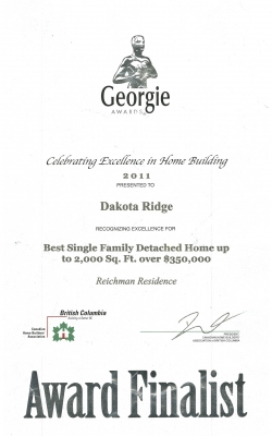 Georgie Single Family 2011
