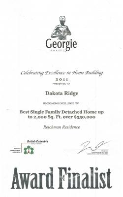 Georgie Single Family 2011