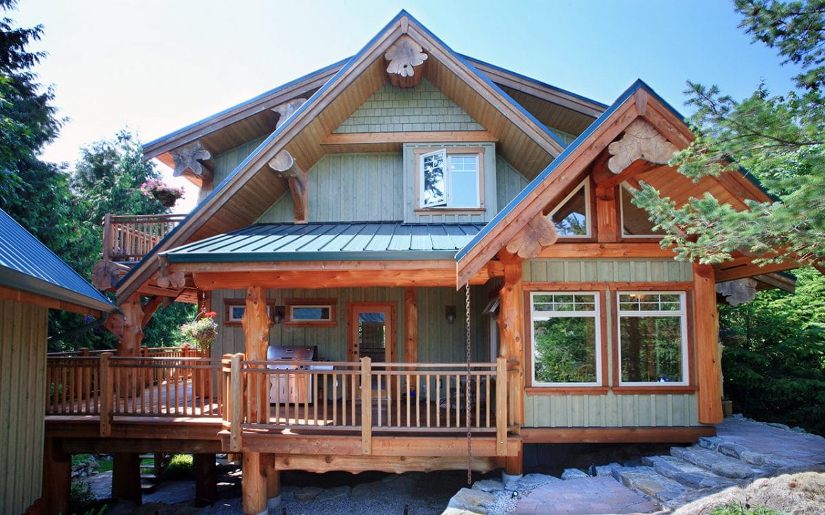 Halfmoon bay post and beam west coast log homes for Post beam house