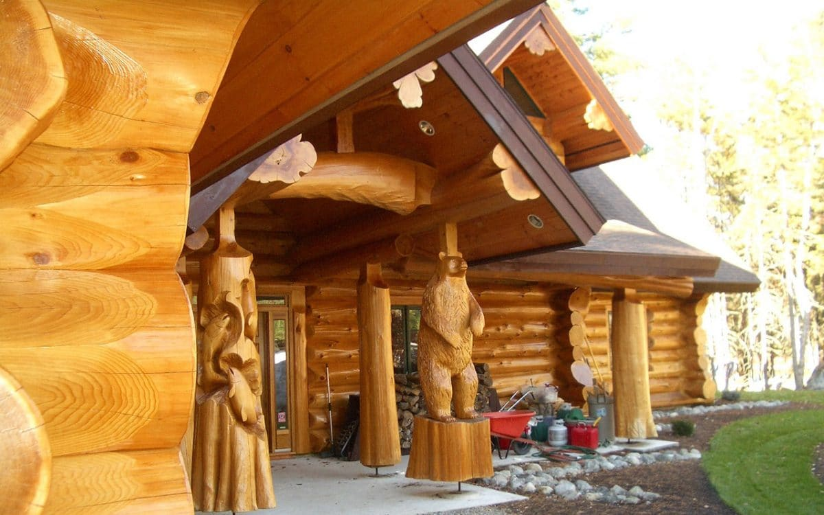 Maine Full Scribe Log Home West Coast Log Homes