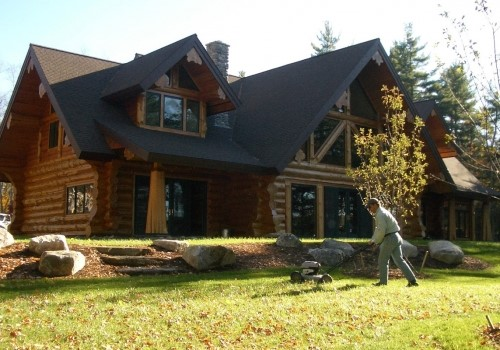 Maine Full Scribe Log Home