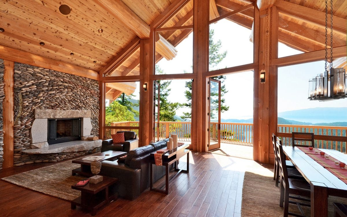 Mixal Heights Post And Beam West Coast Log Homes