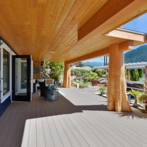 Exterior Guest Suite Deck Oceanside At Pender Harbour Jewel