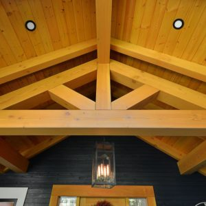 Exterior Timber Frame Covered Entry At Pender Harbour Jewel