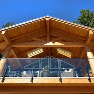Exterior Timber And Post Deck At Pender Harbour Jewel