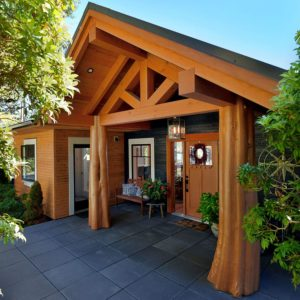 Exterior Timber & Post Entry At Pender Harbour Jewel
