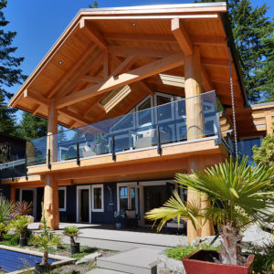 Exterior Two Story Covered Decks At Pender Harbour Jewel