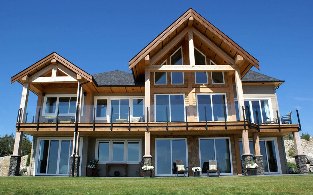Sechelt timber frame west coast log timber for Timber house