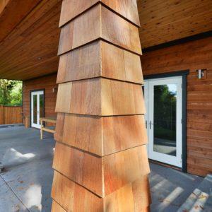 Exterior Cedar Siding On Posts - Selma Park Post Beam Residence