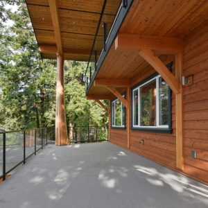 View Of Exterior Lower Deck Ares With Post And Beam Features - Selma Park Post Beam Residence