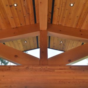 Exterior Post And Beam Joists - Selma Park Post Beam Residence