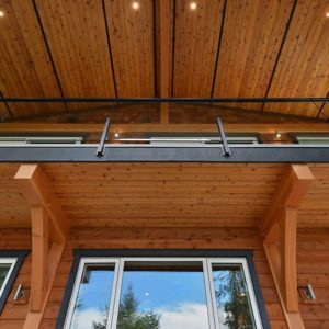 Exterior Post And Beam Feature Overhang Over Deck Area - Selma Park Post Beam Residence
