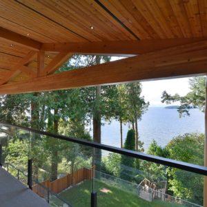 Exterior Upper Deck Ocean View - Selma Park Post Beam Residence