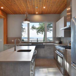 Open Floor Plan Kitchen - Selma Park Post Beam Residence