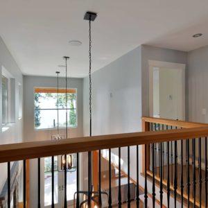 Loft Banester Hallway - Interior - Selma Park Post Beam Residence