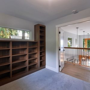 Interior Loft Library Room - Selma Park Post Beam Residence