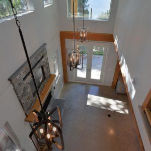 Selma Park Post Beam Interior Loft View To Living Room