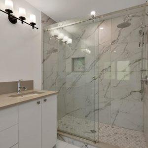 Master Shower At Selma Park Post Beam Residence