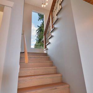 Interior Stairway - Selma Park Post & Beam Hybrid Residence